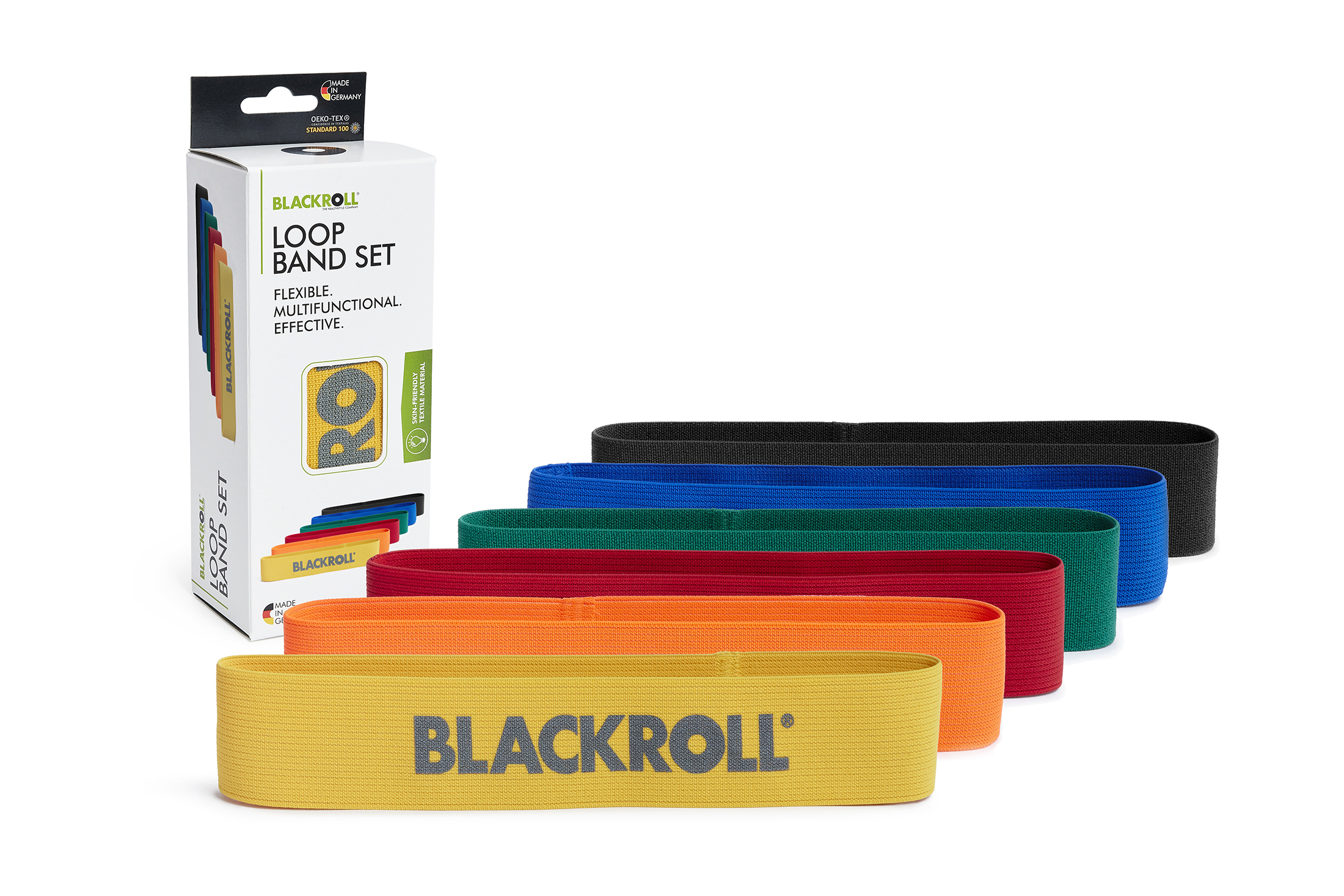 BLACKROLL® LOOP BAND SET 6ER yellow, orange, red, green, blue, black