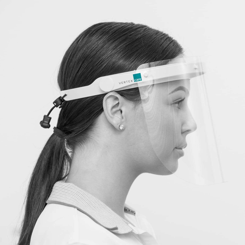 Multifunktionaler Gesichtsschutz mit 10 Vollvisieren