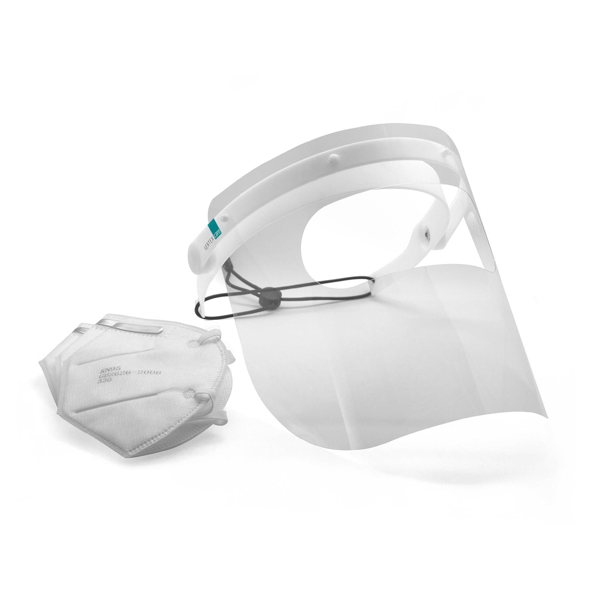 Bundle Gesichtsschutz B mit 50 Stück Atemschutzmasken KN95