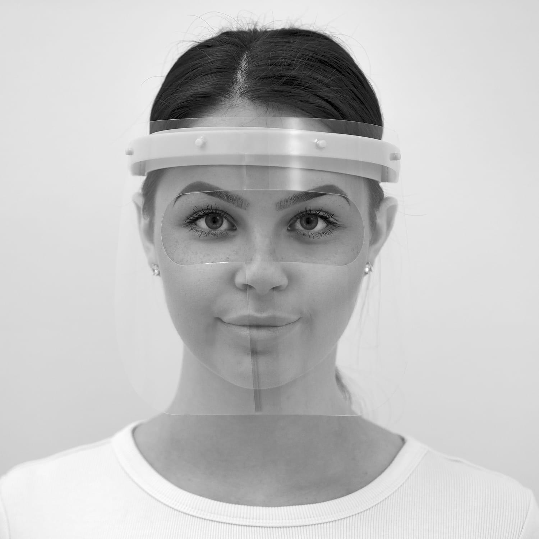 Multifunktionaler Gesichtsschutz mit 5 Vollvisieren + 5 Lupenbrillenvisieren