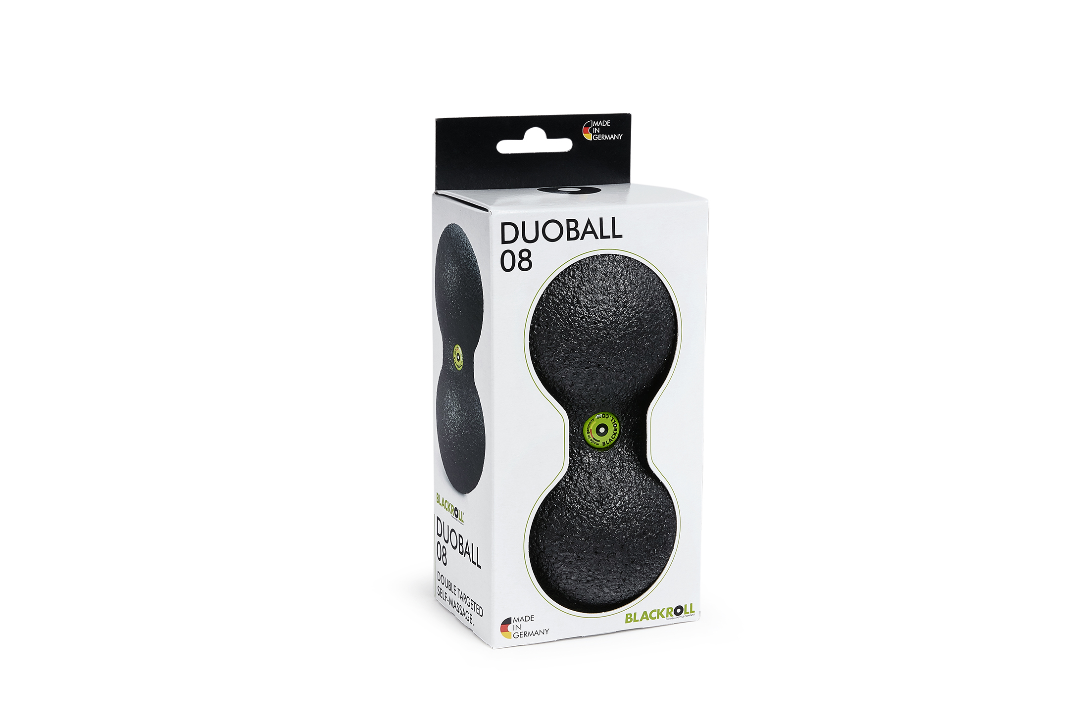 BLACKROLL® DUOBALL 08 black - boxed incl. doming