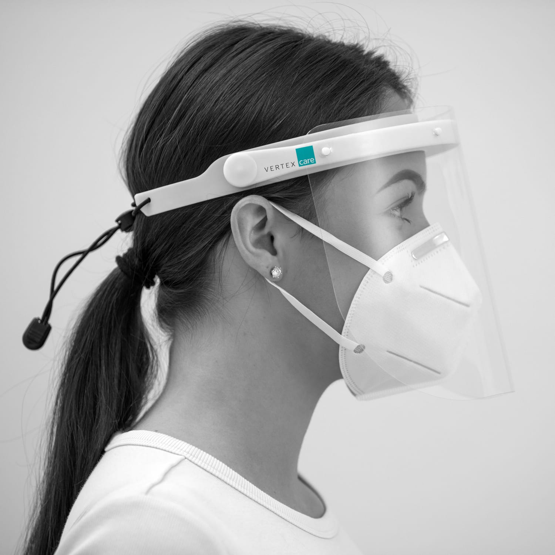 Bundle Gesichtsschutz D mit 50 Stück Atemschutzmasken KN95