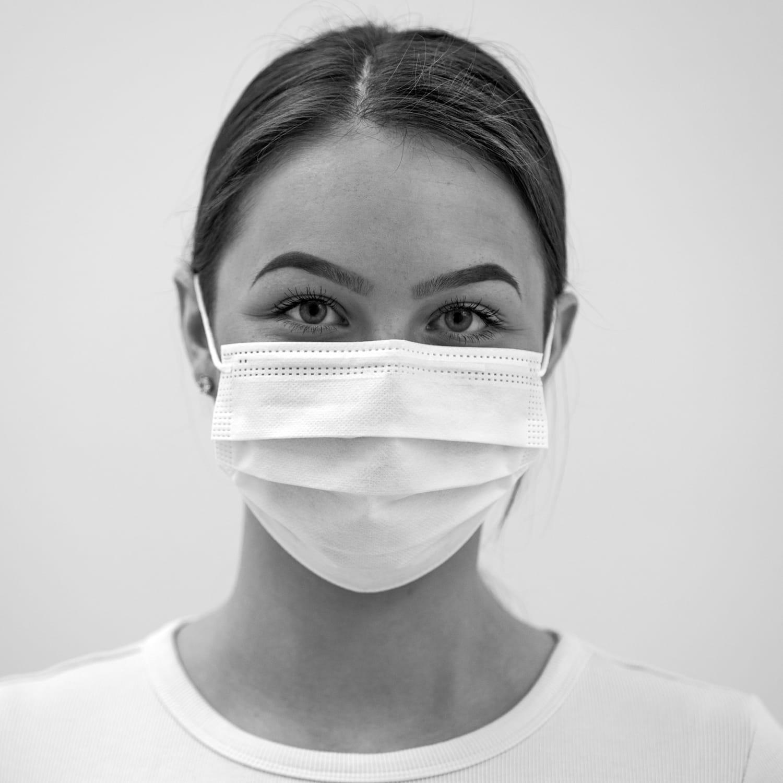 Medizinische Einwegmaske Typ IIR, 3-lagig mit Ohrenschlaufen, 50 Stück