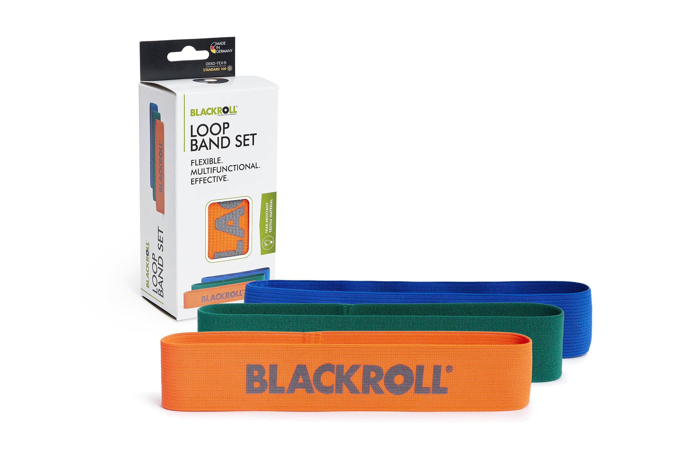 BLACKROLL® LOOP BAND SET orange, green, blue