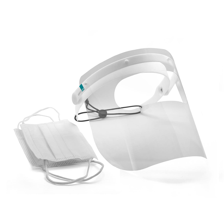 Bundle Gesichtsschutz A mit 50 Stück medizinischen Einwegmasken Typ IIR