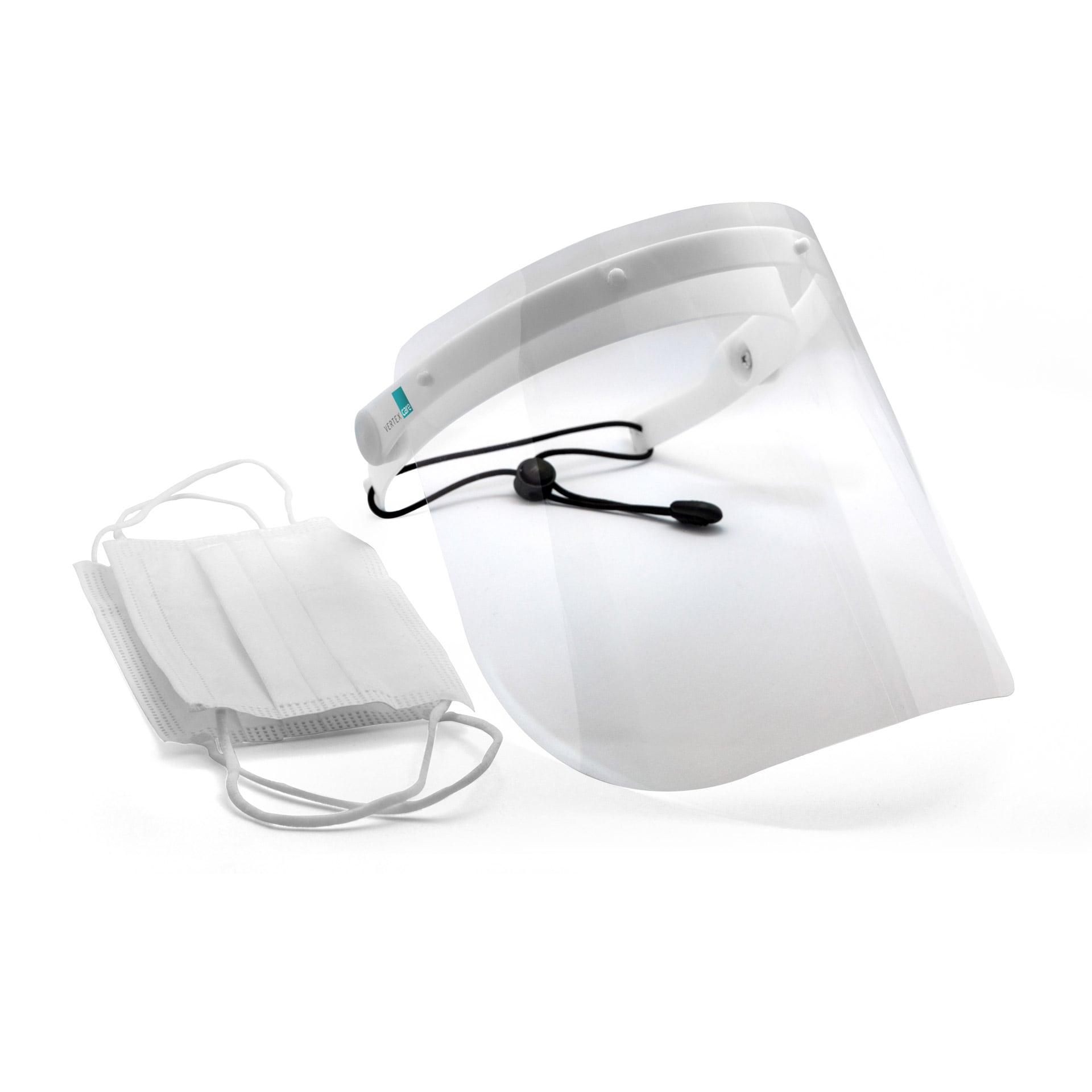 Bundle Gesichtsschutz C mit 50 Stück medizinischen Einwegmasken Typ IIR