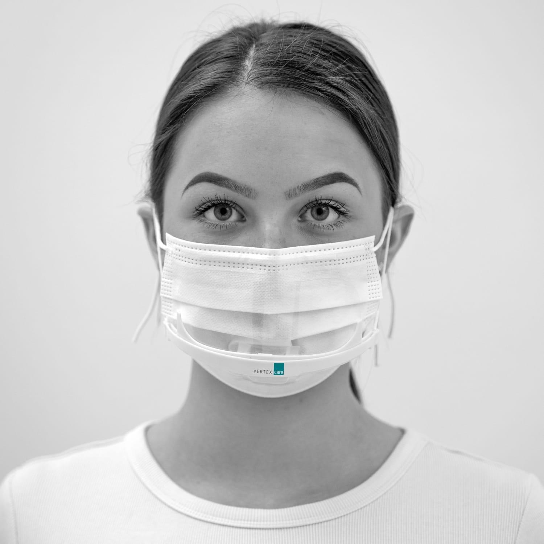 Bundle Mundschutz mit 50 Stück medizinischen Einwegmasken Typ IIR